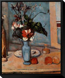 Blue Vase Framed Canvas Print by Paul Cézanne