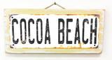 Cocoa Beach Rusted Wood Sign