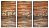 The Waterfront Triptych Art Wood Sign