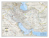 National Geographic - Iran Classic Map Laminated Poster Prints by National Geographic