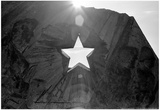 Star Cut Into Statue Budapest Hungary Posters