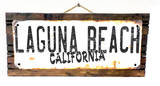 Laguna Beach California Rusted Wood Sign