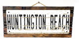Huntington Beach Vintage Wood Sign