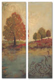 Fall Foliage Triptych Art Wood Sign