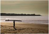 Lone Surfer Newport Rhode Island Posters
