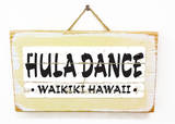 Hula Waikiki Vintage Wood Sign