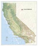 National Geographic - California Map Laminated Poster Poster van Geographic, National