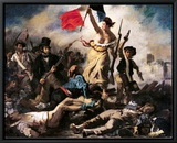 Liberty Leading the People, 28 July 1830 Framed Canvas Print by Eugene Delacroix