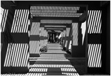 Black and White Walkway Scottsdale Arizona Posters