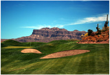 Golf Course at Foot of Mountain Range Scottsdale Arizona Prints