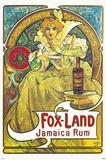 Fox Land Jamaica Rum Posters by Alphonse Mucha