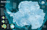 National Geographic - Antarctica Satellite Map Laminated Poster Posters by National Geographic