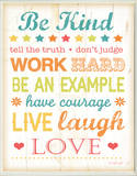 Be Kind Tell The Truth Typography Rectangle Wood Sign