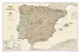 National Geographic - Spain & Portugal Executive Map Laminated Poster Print by National Geographic