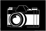 Black and White Camera Poster