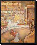 Circus Framed Canvas Print by Georges Seurat