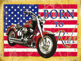 Born to Ride Plaque en métal