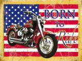 Born to Ride Plakietka emaliowana