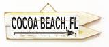 Cocoa Beach, FL Vintage Wood Sign