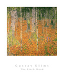The Birch Wood Prints by Gustav Klimt