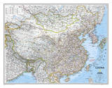 National Geographic - China Classic Map Laminated Poster Lámina por Geographic, National