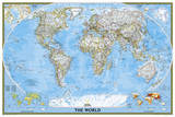 National Geographic - World Classic, poster size Map Laminated Poster Photographie par National Geographic