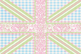 Union Jack, Blue, Green and Pink Affiches par Sasha Blake