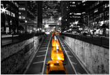 Taxi Timelapse NYC Plakaty