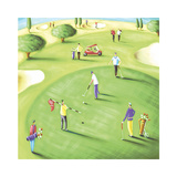 18th Hole Prints by Jo Parry