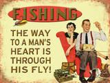 Fishing - The Way to a Mans Heart Plaque en métal