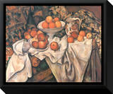 Still Life with Apples and Oranges, c.1895-1900 Framed Canvas Print by Paul Cézanne