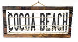 Cocoa Beach Vintage Wood Sign