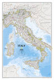 National Geographic - Italy Classic Map Laminated Poster Posters by National Geographic