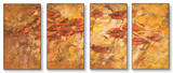 Fall Wind Scene Triptych Art Wood Sign