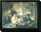Dejeuner sur l'Herbe Framed Canvas Print by Édouard Manet