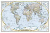 National Geographic - National Geographic 125th Anniversary World Map Map, Two-Sided Poster Print by National Geographic