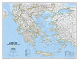 National Geographic - Greece Classic Map Laminated Poster Pósters por Geographic, National