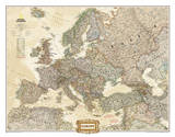 National Geographic - Europe Executive Map Laminated Poster Prints by National Geographic