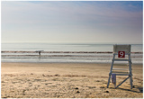Lone Surfer on Newport Beach Rhode Island Prints