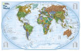 National Geographic - World Explorer Laminated Map Poster Prints by National Geographic