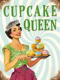 Cupcake Queen Plaque en métal