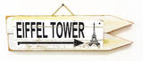 Eiffel Tower Vintage Wood Sign
