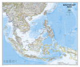 National Geographic - Southeast Asia Map Poster Kunstdrucke von National Geographic