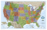 National Geographic - United States Explorer Map Laminated Poster Prints by National Geographic