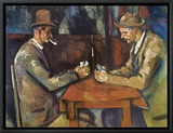 The Card Players, 1890-92 Framed Canvas Print by Paul C&#233;zanne