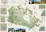 National Geographic - Canada National Parks Map Poster Posters by National Geographic