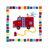 Fire Engine Posters by Sophie Harding