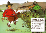 Rules of Golf - Rule XV Poster par Charles Crombie