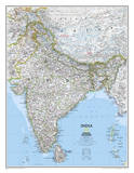 National Geographic - India Classic Map Laminated Poster Prints by National Geographic