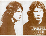 Jim Morrison Police Photo 1967 Poster Masterprint
